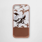 River Island Womens Rose Gold tone marble phone case