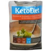 KetoDiet Proteinová polévka se zeleninou a houbovou příchutí 7 x 27 g
