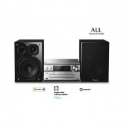 Panasonic SC-PMX152EGS Sistema Micro Audio Alta Risoluzione 120 W, Lettore CD, Bluetooth, USB DAC, DAB DAB+, FM AM, Airplay, Wi-Fi multiroom, NFC, Speaker 3 Vie, LincsD-Amp, Serie ALL