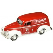 New 1:64 AUTO WORLD JOHNNY LIGHTNING MIJO COLLECTION - TEXACO RED 1940 FORD DELIVERY VAN Diecast Model Car By Auto World