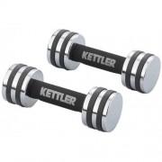 Set gantere cromate Kettler 2 x 2 Kg
