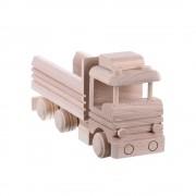 Jucarie din lemn necolorata model basculanta