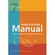 Publication Manual of the American Psychological Association: 7th Edition, 2020 Copyright, Paperback/American Psychological Association