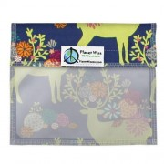 Planetwise Inc Planet Wise Snack Bag mit Fenster (Muster: Caribou Bloom)