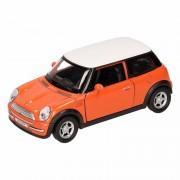 Mini Cooper Speelgoed oranje Mini Cooper auto 11 cm