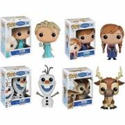 Funko Disney Frozen Pop! Vinyl Set, Anna, Elsa, Olaf And Sven