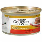 Purina Gourmet Gold Tartelette con Buey y Tomate
