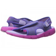 Nike Sunray Adjust 4 (Little KidBig Kid) HydrangeasFire PinkComet Blue