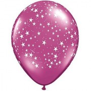 Pioneer Balloon Assorted Jewel Stars-A-Round Latex Balloons 16 Multicolor