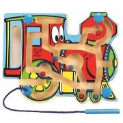 Hape Gőzmozdony - labirintus mágneses pálcával és gyöngyökkel
