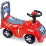 Masina fara pedale DOLU realizata din plastic rezistent Rosie
