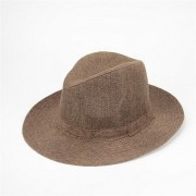 Men Women Flax Straw Jazz Hats Beach Sun Cap