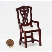 Dollhouse Miniature Dollhouse Miniature Mahogany Dining Room Arm Chair