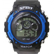 Prushti sports watch collections Analog Black Blue Dial Mens Watch