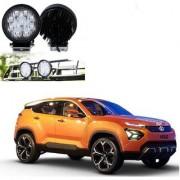 Auto Addict DEVICE 4 inch 9 LED 27Watt Round Fog Light with Flood Beam Auxiliary Lamp Set Of 2 Pcs For Tata H5X