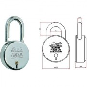 Link Padlock 65 mm Round Bright Chrome Plated by SmartShophar