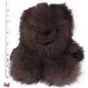 Baby Alpaca Fur Sitting Chubby Bear Hand Made 5+ Inch Mocha Each Bear Is Unique