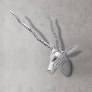 vidaXL Väggmonterat gasellhuvud aluminium silver 33 cm