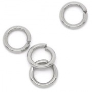 DIY Crafts Stainless Steel Open Jump Rings Connectors 6mm(Pack of 500 Pcs)