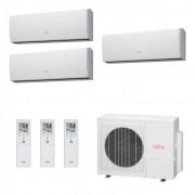Fujitsu Condizionatore Trial Split Parete Gas R410A Serie LU 9+9+9 Btu ASYG09LUCA ASYG09LUCA ASYG09LUCA AOYG24LAT3 A++/A+