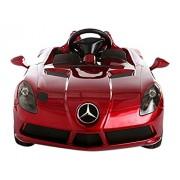 Evezo Mercedes-Benz SLR Ride on Car, Red, 12V