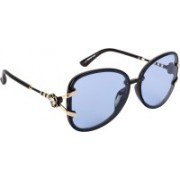 Aislin Butterfly, Over-sized Sunglasses(Blue)