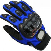 Pro Biker Riding Glove (XXL size Blue Black)
