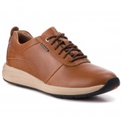 Обувки CLARKS - Un Coast Plain 261328087 Dark Tan Lea