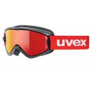 schi ochelari Uvex SPEEDY PRO LUAȚI OFF, black-red / litemirror roșu (2026)