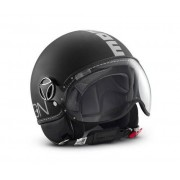 Momo Design Casco Jet Fighter Classic Nero Opaco - Argento