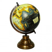 Globe - EnticeSelections Educational Hand Made Globe - World Globe 8 inch - Perfect Globes for Students and Kids - Large Size Political Globe - Decorative Gift item for Home and Office - Gifts for boss- Travel Gifts -Map of the world