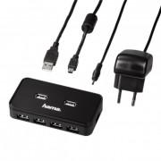 USB 2.0 razdelnik 7/1 sa napajanjem Hama