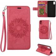 Louiwill Nueva Moda Floral Print Pure Color Flip Cuero Retro Cartera De La Caja Protectora Del Teléfono Para El IPhone 7 / 7Plus / 8 / 8Plus / X