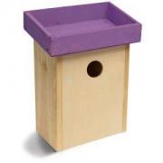 Express Vogelhuisje voor kleine vogels paars