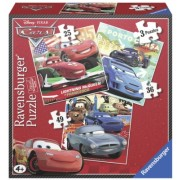 Puzzle Cars, 3 Buc In Cutie, 25/36/49 Piese Ravensburger