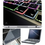 Finearts Laptop Skin Keypad Color Led With Screen Guard And Key Protector - Size 15.6 Inch