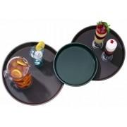 Vassoio rotondo in polipropilene con superficie antiscivolo Colore Nero Dimensioni ø mm. 406 Confezione da N. 12 pezzi Modello VPA180_Nero