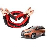 Auto Addict Premium Quality Car 500 Amp Heavy Duty Copper Core Tangle Battery Booster Cable 7.5 Ft For Honda Mobilio