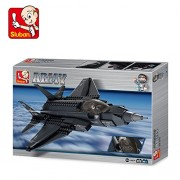 Sluban Lightning Fighter Aircraft Educational Building Block Toy 252Pcs LEGO Compatible Multi Color Smart Gift M38-B0510