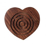 Storeindya Labyrinth Maze Game / Puzzle Wooden Ball In Holiday Board Games Travel Mazes Toy Brain Teaser For Teens Kids Adults (Heart)