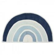 LILIPINSO Tapis coton Arc-en-ciel Bleu - 120 x 70 cm