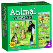 Tingoking Learning and Educational Animal Puzzle Number 4 (10 to 25 Pieces)