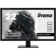 "Monitor Gaming TN LED iiyama G-Master Black Hawk 22"" GE2288HS, Full HD (1920 x 1080), DVI, HDMI, 1 ms, Boxe, FreeSync (Negru)"