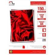Multilaser Glossy Paper Multilaser Pe002 A4 150G C/ 10 Folhas - Branco - PE002 PE002