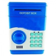 Piggy Bank Mini Atm Money Box Safety Electronic Password Chewing Coins Cash Deposit Machine (Assorted Colors)