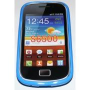 Силиконов гръб ТПУ за Samsung S6500 Galaxy mini 2 Син