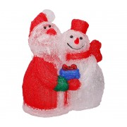 Grundig - LED Decorațiune de crăciun 60xLED/3,6W/230V Santa și om de zăpadă IP44