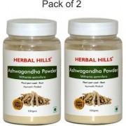 Herbal Hills Ashwagandha Powder - 100 gms - Pack of 2
