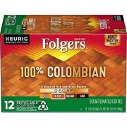 Folgers Gourmet Sele Countions Coffee, Lively Colombian, Decaffeinated, Portion Pack for Keurig Brewers, 12-Count (Pack of 3)