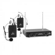 Auna VHF-2-HS 2-Kanal-VHF-Funkmikrofon Set 2xHeadset 100m